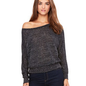 Women's Flowy Long Sleeve Off Shoulder Tee