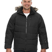 Men's Boreal Down Jacket with Faux Fur Trim