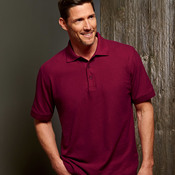 UltraClub Men's Basic Blended Piqué Polo