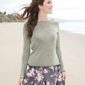 Women's Kaitlyn Gauze Knit Long Sleeve Pullover