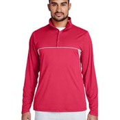 Men's Excel Mélange Interlock Performance Quarter-Zip Top
