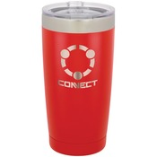 20 oz Red Stainless Steel Tumbler - Engraves to Silver Only