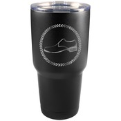 30 oz Black Stainless Steel Tumbler - Engraves to Silver Only