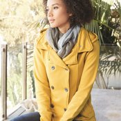 Juniors' Premium Heavy Textured Fleece Pea Coat