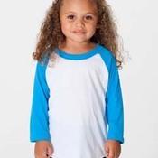 Toddler Poly-Cotton 3/4 Sleeve Raglan