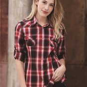 Women's Convertible Sleeve Western Shirt