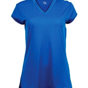 Solid Color Cap Sleeve Ladies Jersey Thumbnail