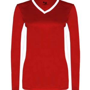 Ladies' Core Performance Dig Long-Sleeve Tee with Contrast Sleeve Panels Thumbnail