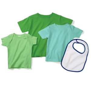 Infant Baby Rib Lap-Shoulder T-Shirt Thumbnail