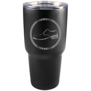 30 oz Black Stainless Steel Tumbler - Engraves to Silver Only Thumbnail